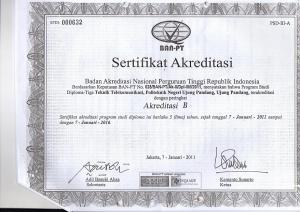 D3 Telkom Akreditasi 2011-2016