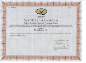 D4 TKJ Akreditasi 2014-2019
