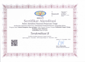 D4 TKJ Akreditasi 2019-2024